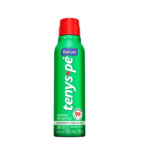 Desodorante Tenys Pé Baruel Seco Canforado Aerosol 86g