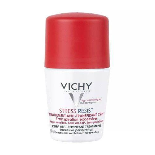 Desodorante Vichy Stress Resist 72h Roll On Dermatológico 50ml