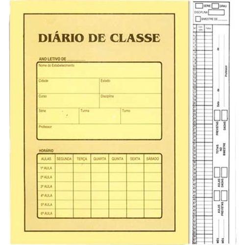 Diario de Classe Bimestral Sao Domingos Amarelo - 8 Folhas 131774