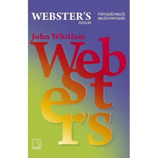 Dicionario Escolar Webster S - Portugues Ingles Portugues - Record