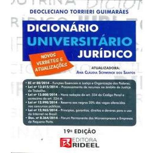 Dicionario Universitario Juridico - 19 Ed