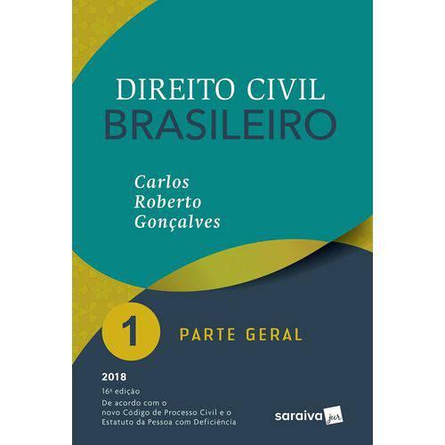 Direito Civil Brasileiro Vol 1 - Goncalves - Saraiva