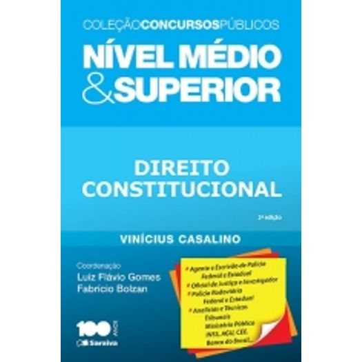 Direito Constitucional - Nivel Medio e Superior - Saraiva