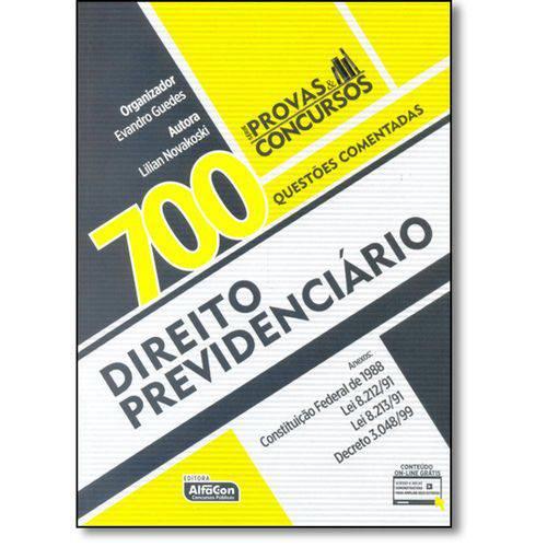 Direito Previdenciário - 700 Questões Comentadas - 1ª Ed.