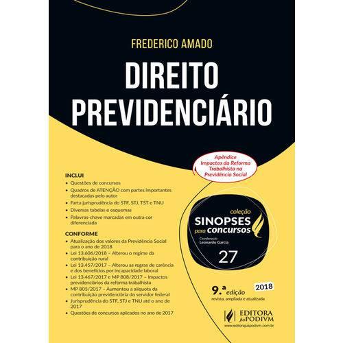 Direito Previdenciário - Volume 27