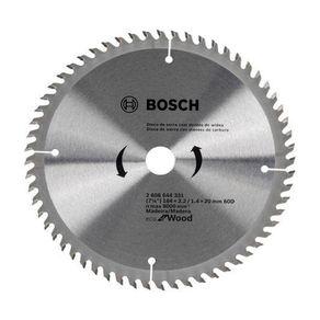 Disco 184mm para Serra Circular Eco 60 Dentes 2608644331000 Bosch