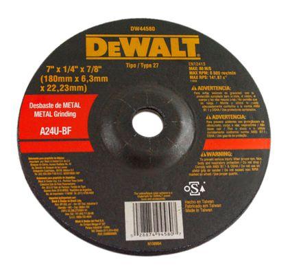 Disco de Corte Fino para Metal Dewalt DW44580 7x1/4x7/8 Pol. DW44580