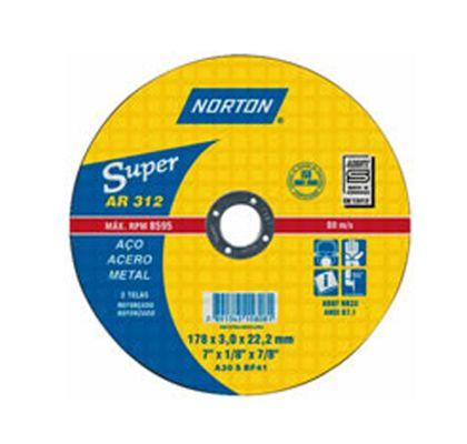 Disco de Corte P/ Aço 4.1/2'' Norton 115,0x3,0x22,22mm - AR312 66252842856