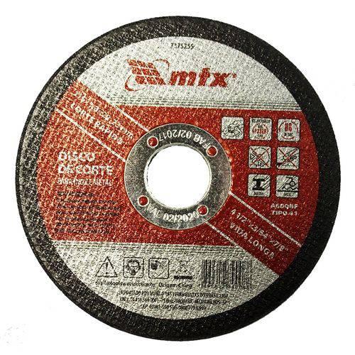 Disco de Corte para Inox e Metal, 115 X 1,0 X 22mm 7375255 Mtx
