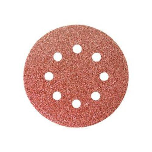 Disco de Lixa com Velcro Perfurado P40 125mm 5 Peças - Mtx