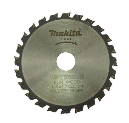 Disco de Serra para Madeira 110x20mm 24 Dentes - Makita - D-15578 D-15578