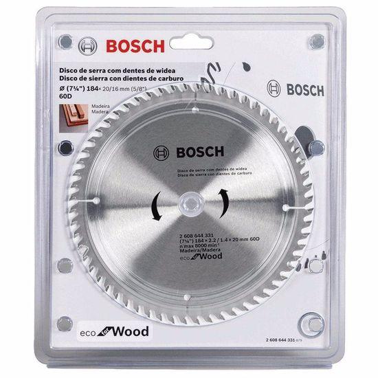 """Disco de Serra para Madeira 184mm (7.1/4"""") 60 Dentes - 2 608 644 331 000 - Bosch"""