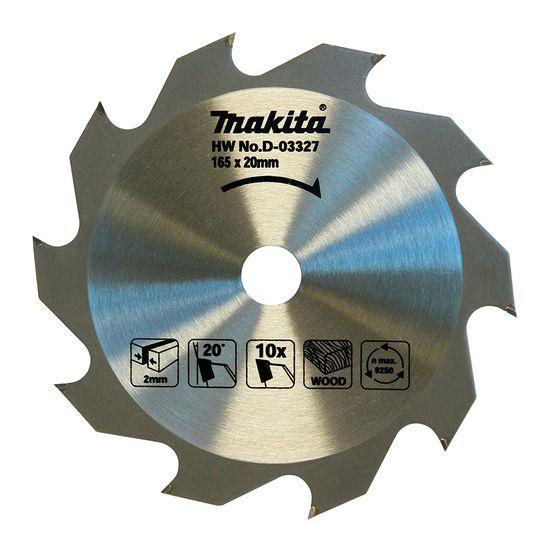 Disco de Serra TCT 165mm 10 Dentes (Madeira) - D-03327 - Makita
