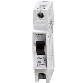 Disjuntor 20A Unipolar (C) 5Sx1 120-7 Siemens