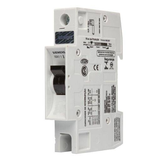 Disjuntor Unipolar Din 10A - Curva B - Siemens