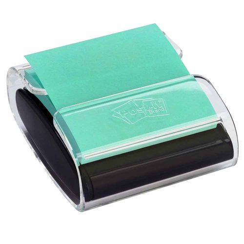 Dispensador de Post-it Pop-up Preto com Bloco 76x76mm Verde 100 Folhas 1023712