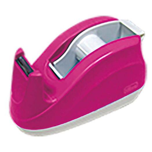 Dispensador para Fita Durex Rosa Neon 244708 Tilibra