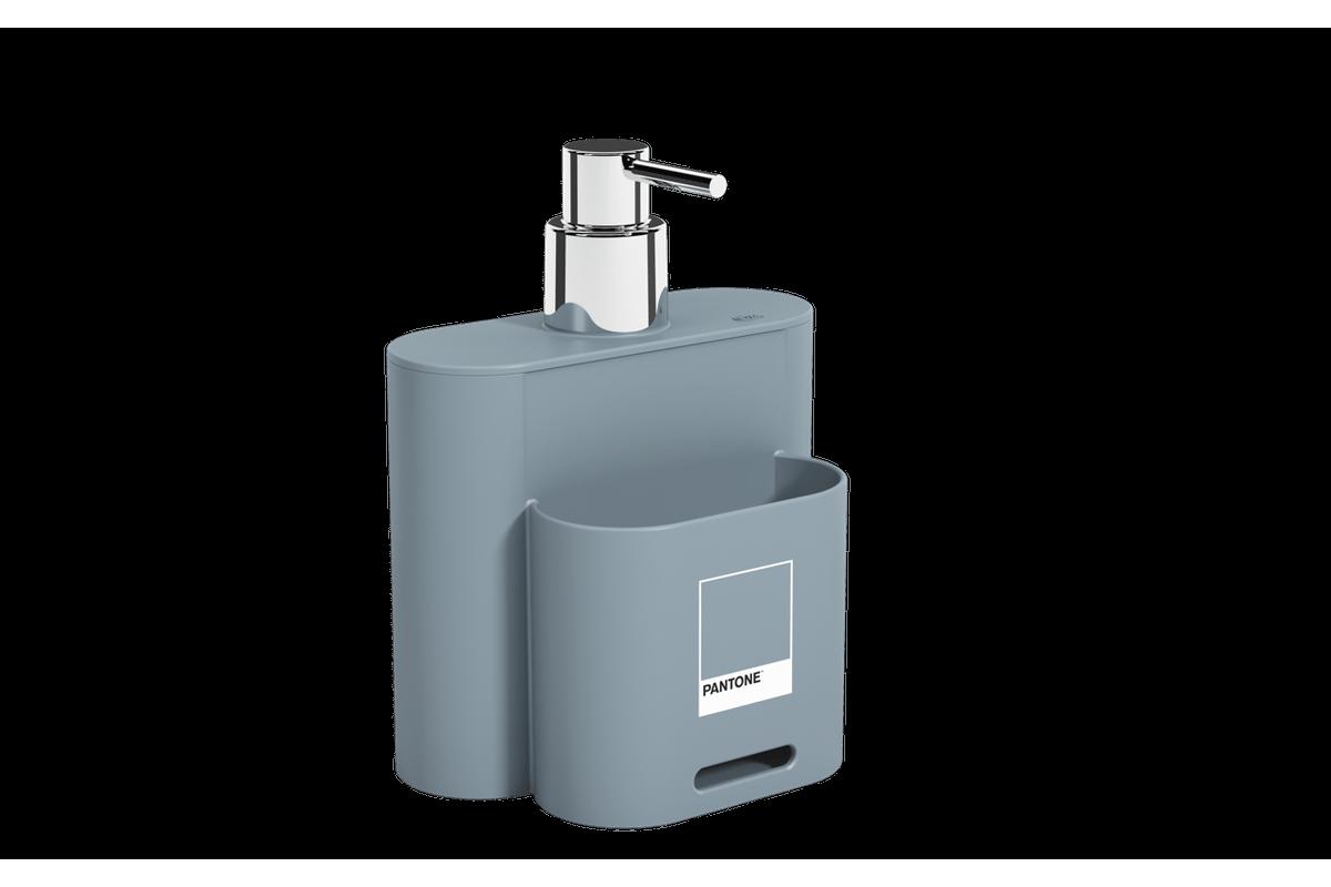 Dispenser 500 Ml Flat 9 X 13 X 16,5 Cm Azul Pantone Coza