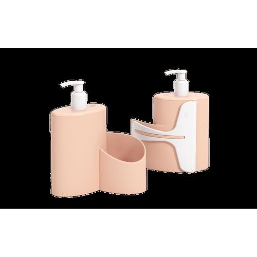 Dispenser Abraço Basic 600 Ml 19,7 X 8,5 X 16,6 Cm Rosa Blush Coza