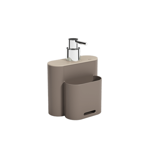 Dispenser Flat 500 Ml 9 X 13 X 16,5 Cm Warm Gray e Light Gray Coza