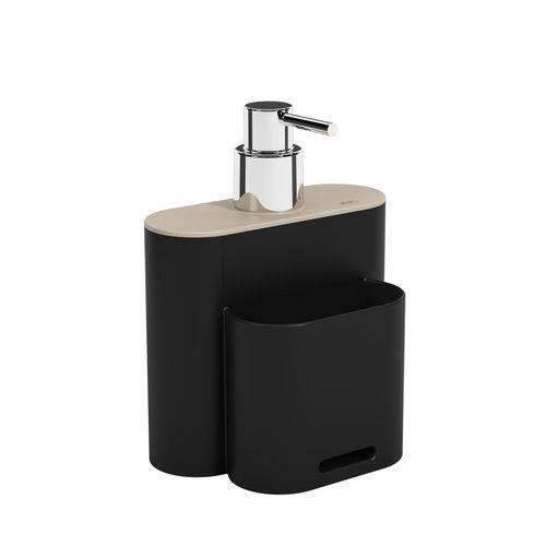 Dispenser Flat 500 Ml Preto Coza e Ligth Gray Coza