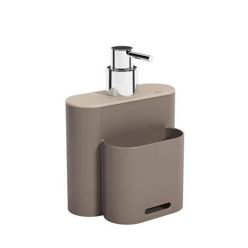 Dispenser Flat 500 Ml Warm Gray Coza e Ligth Gray Coza