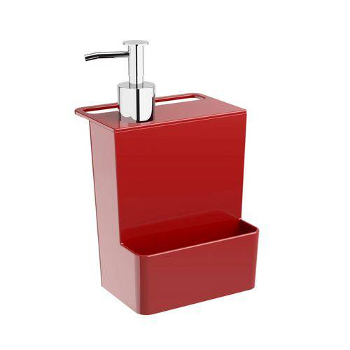Dispenser Multi 600 Ml Glass Vermelho Bold Coza