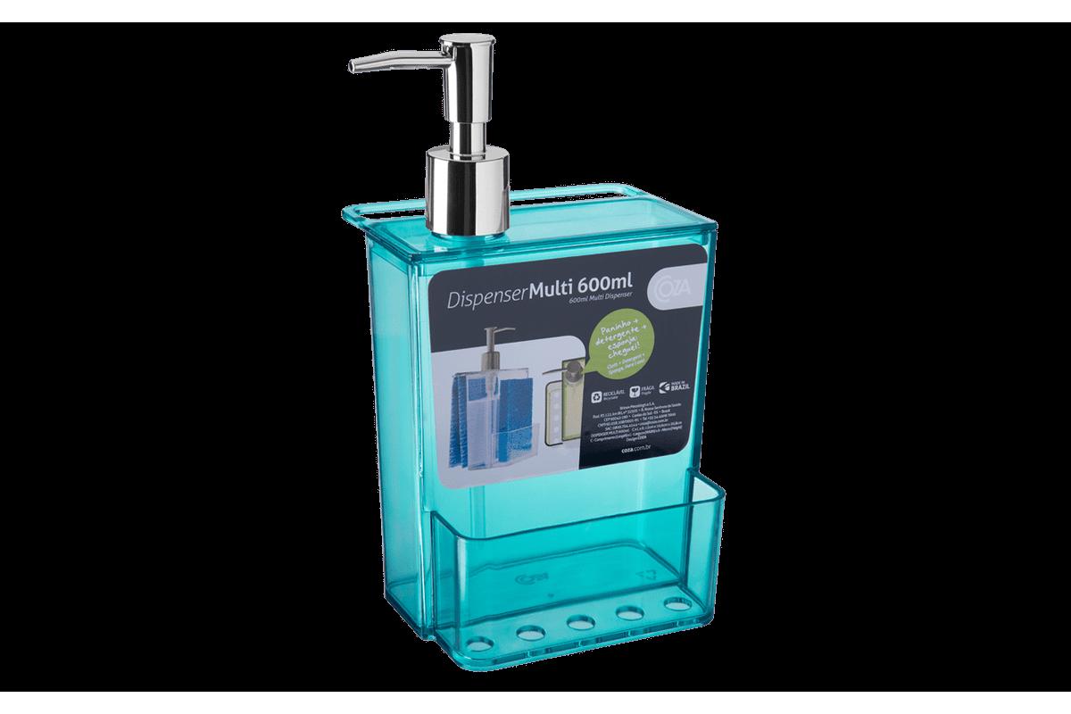 Dispenser Multi Glass 600 ML 12 X 10,6 X 20,8 Cm 600 Ml Verde Coza