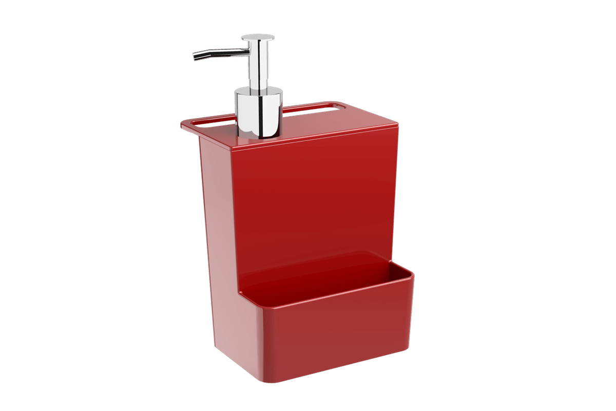 Dispenser Multi Glass 600 Ml 12 X 10,6 X 20,8 Cm Vermelho Bold Coza