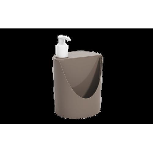 Dispenser Romeu e Julieta Basic 600 Ml 12 X 10,5 X 18 Cm Warm Gray Coza