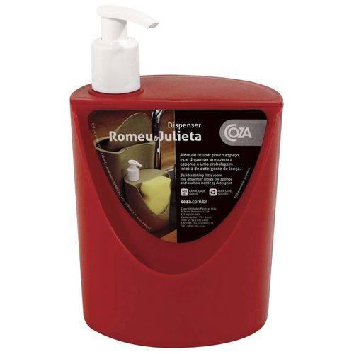 Dispenser Romeu e Julieta Sobre a Pia PP 600ml Vermelho Coza.