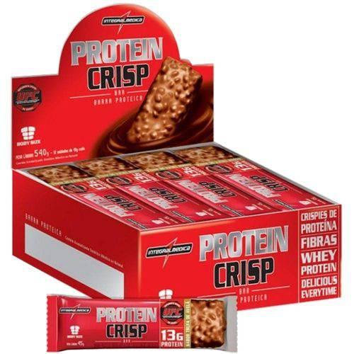 Display Protein Crisp Peanut Butter Integralmedica 12uni 540g