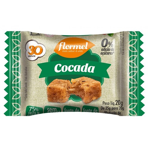 Doce Flormel Cocada Zero com 25g