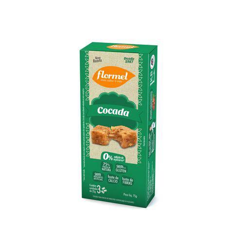 Doces Diet Cocada Zero Açúcar Flormel - Display 2x25g