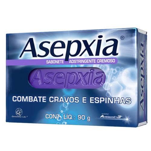 Dois Sabonete em Barra Anti-acne Asepxia 90g Cremoso