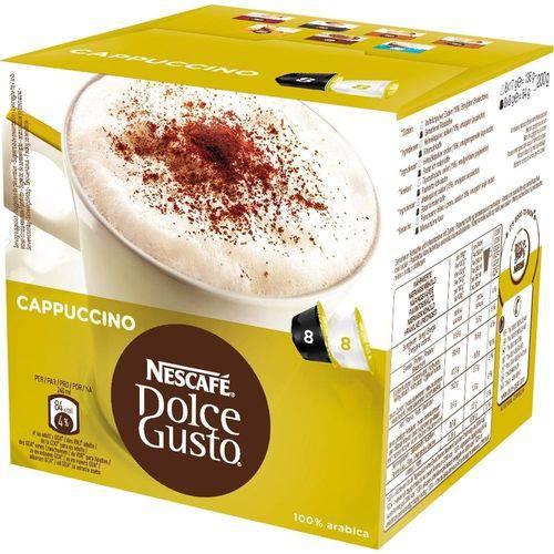 Dolce Gusto Cappuccino 200g C/ 16 Cápsulas (8 Café + 8 Leite) - Nescafé