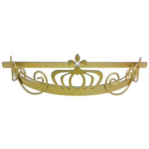 Dossel Coroa Arabesco Babykinha Dourado
