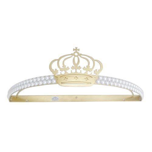 Dossel Coroa 2 Perolas Dourado