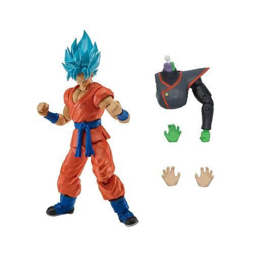 Dragon Ball Super Boneco Articulado Colecionável Blue Goku - Brinquedos Chocolate