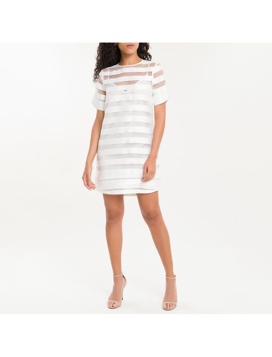 Dress T-Shirt Listras Calvin Klein - Branco - PP