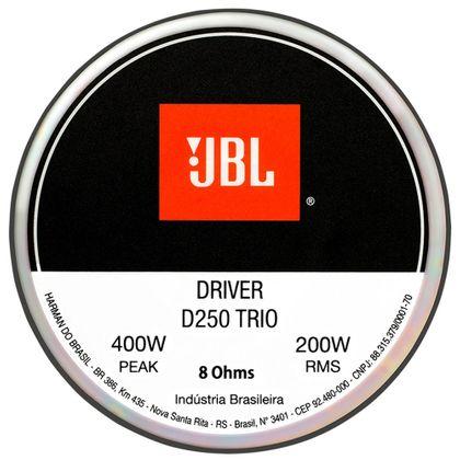 Driver de Corneta Original Jbl D250 Trio - 200w Rms - 8 Ohms