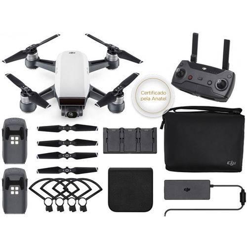 Drone DJI SPARK FLY More Combo White Alpine com Radio Controle CP.PT.000909