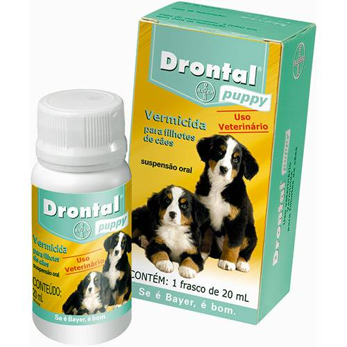 Drontal Puppy 20ml Cães Filhotes