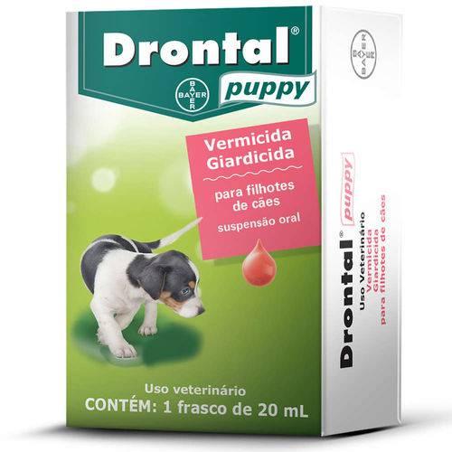 Drontal Puppy 20ml Vermicida para Filhotes de Cães - Bayer