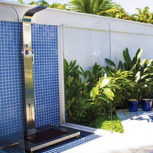 Ducha Advance em Aço Inox com Misturador para Água Quente - Sodramar