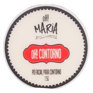 Duo Pó Facial Contorno OH! Maria By Lola Cosmetics 3 Bapho