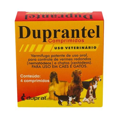 Duprantel para Cães e Gatos Vermífugo com 4 Comprimidos