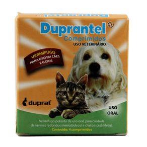 Duprantel Vermifugo para Cães e Gatos 4 Comprimidos