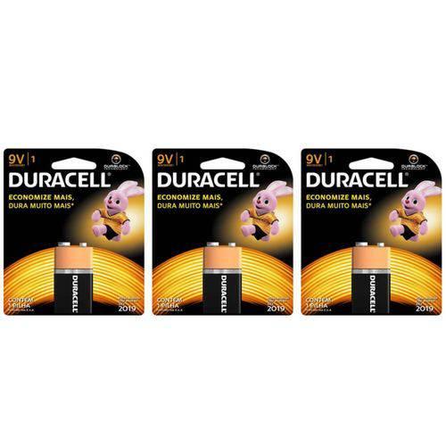 Duracell Bateria 9v (kit C/03)