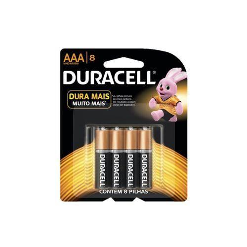 Duracell Duralock Pilha Alcalina AAA C/ 8